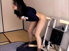 Horny wife Haruka Okoshi fucking herself with dildo
