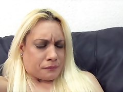 Amateur nervous at first casting