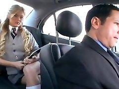American Schoolgirl cheats her Boyfriend with a Russian