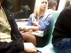 Turkish Nice Legs - Taksim Subway