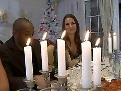 Hardcore cena de Navidad de la orgía