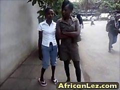 Dirty ebony sluts having lesbo fun in bathroom