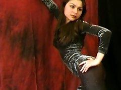 Ballerina Julia showing flexible strip