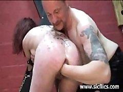 Slave girl fist fucked till she screams