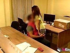 spanish teen fucks postman with hidden cam