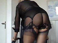 Mature hottie on lingerie