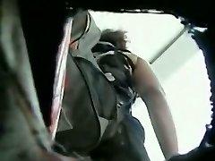 White milf w/ nice ass in a camo skirt gets filmed in upskirt video