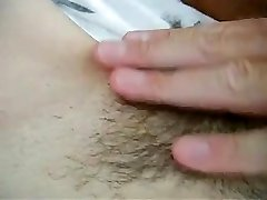 Trimming and shaving pussy