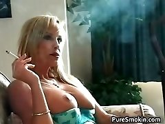 Sexy nasty hot body blonde babe smokes part6
