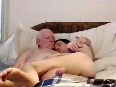 grandpa and junior on webcam