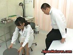 Nurse natsumi kitahara gets her pussy