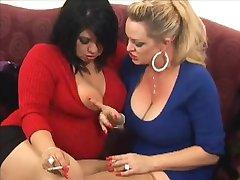 Busty Lesbians Smoking VS 120s