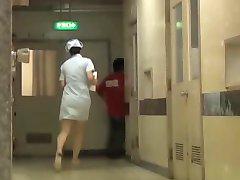 Naughty Japanese bottom sharking for the hospital nurse