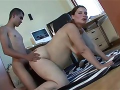 Pregnant Amateur MILF Pokedina Fucks Young Boy