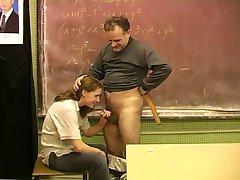 Teen schoolgirl 18+ and the hairy teacher