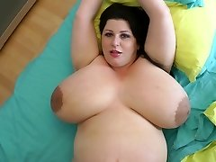 biggest titties ever on a 9 month pregnant cougar
