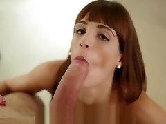 PornPros - Teenage redhead Carol Vega gets pussy fucked in the kitchen