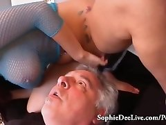 Gobble Mistress Sophie Dee's Wet Cunny Slave!