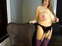 A Primer - Mature mom saggy good-sized fat natural tits masturbate