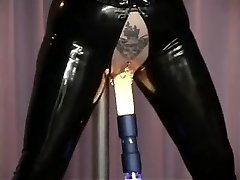Pierced mature in latex nailed by the machine