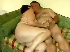 Mature couple pair on webcam