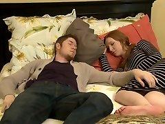 Nasty mature Erica Lauren fucks a hot dude next to his sleeping GF
