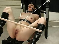 Doll in latex being used by her master
