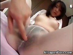 Japanese in White Pantyhose!