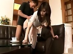 Slender Japanese housewife loves to take it deep and tough