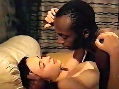Brunette milky girl with black lover - Softcore Bi-racial