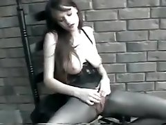 Perfect titties hottie fingers herself
