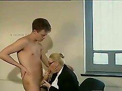 Big dick guy fucks a mature secretary