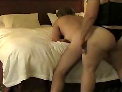 BBW fucking husband with a strap-on