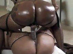 Dark-hued lesbians big phat asses huge strapon