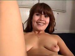 Adorable Euro Girl Inserting Vibrator