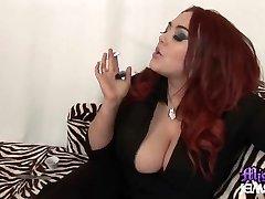 Mistress Jemstone and foot slave