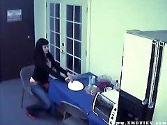 Caught on webcam masturbating with fruit