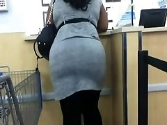 Walmart Skirt And Stretch Pants Gigantic Booty Ass