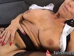Big-titted milf maid blacked