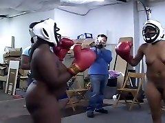 Black Amateurs Boxing Completely Naked