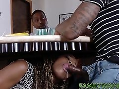 Scorching ebony babes drilled with monster cocks