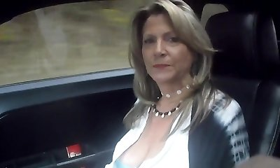 52 YO MILF van riding prt2