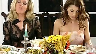 Lesbian dinner and slapping party