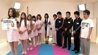 Horny Asian slut Jun Mamiya, Juria Tachibana, Aika in Exotic Handjobs JAV clip