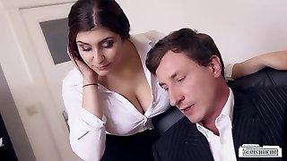 Asses BUERO - Chesty German secretary fucks boss at the office