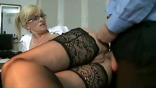 Marina Montana Secretary Assfucked Hangers globes stockings