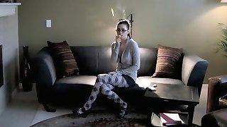 Incredible amateur Smoking, Fetish adult video