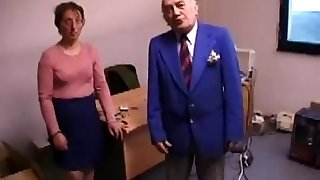 Ugly Chick Fucks And Licks Old Fellow's Ass