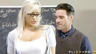Handsome Blonde Teen School Girl
