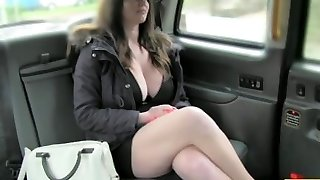 FakeTaxi Big tits and sexy eyes takes penis